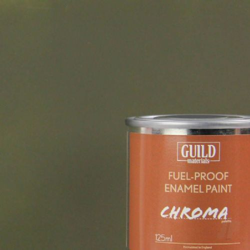 Guild Materials Matt Oliver Drab Enamel Fuel-Proof Paint  (125ml Tin) GLDCHR6315